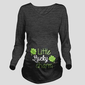Little Lucky Charm Long Sleeve Maternity T-Shirt