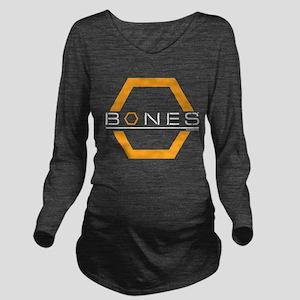 Bones Logo Long Sleeve Maternity T-Shirt