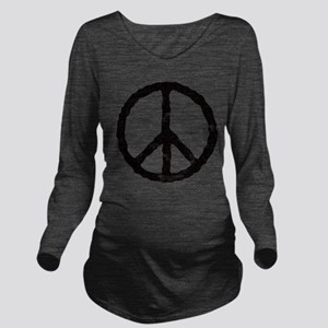 peace_v Long Sleeve Maternity T-Shirt