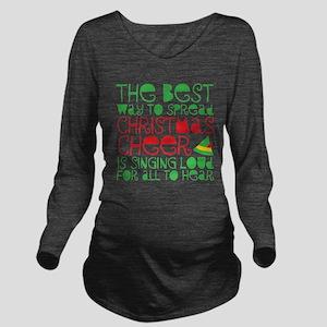 Elf - Cheer Long Sleeve Maternity T-Shirt