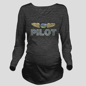 RV Pilot Long Sleeve Maternity T-Shirt