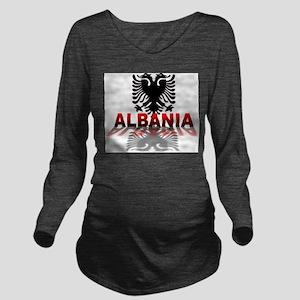 3D Albania Long Sleeve Maternity T-Shirt