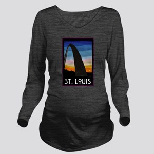 St. Louis Arch Long Sleeve Maternity T-Shirt