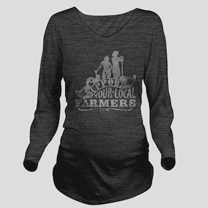 Suppor Local Farmers Long Sleeve Maternity T-Shirt