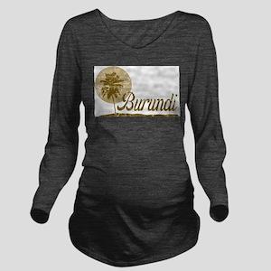 Palm Tree Burundi Long Sleeve Maternity T-Shirt