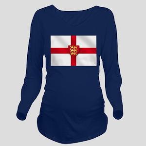 England 3 Lions Flag Long Sleeve Maternity T-Shirt