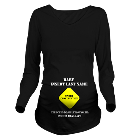 Under Construction Personalize Baby Long Sleeve Ma