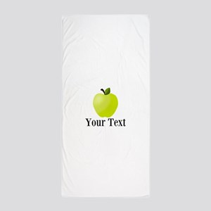 Personalizable Green Apple Beach Towel