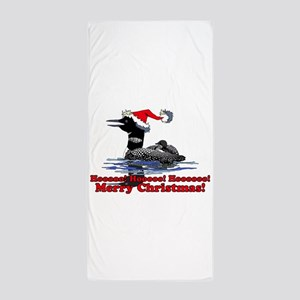 Christmas Loon Beach Towel