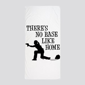NO BASE LIKE HOME Beach Towel