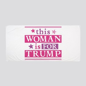 Woman for TRUMP Beach Towel
