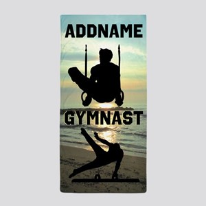 Talented Gymnast Beach Towel