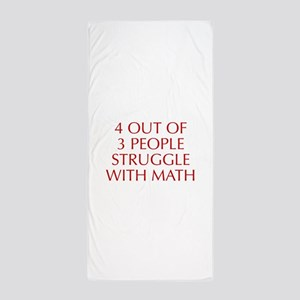 4-OUT-OF-3-PEOPLE-OPT-RED Beach Towel