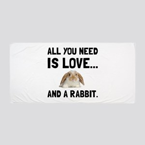Love And A Rabbit Beach Towel