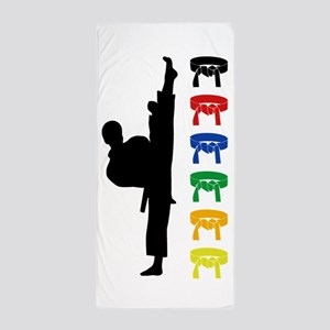 Karate Boy Beach Towel