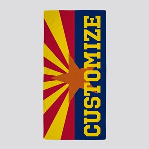 Personalized State Flag of Arizona Beach Towel