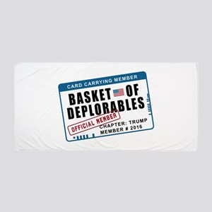 Basket of Deplorables Beach Towel