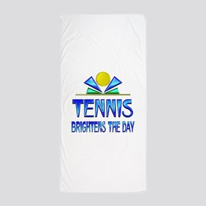 Tennis Brightens the Day Beach Towel