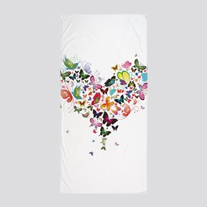 Heart of Butterflies Beach Towel