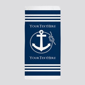 Nautical Anchor Personalized Beach Towel