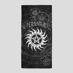 Supernatural Black Beach Towel