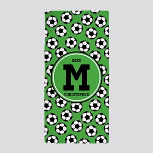 MONOGRAM Soccer Pattern Beach Towel