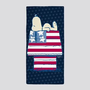 Snoopy 4th Of July Beach Towel