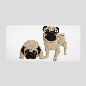 Pugs Beach Towel