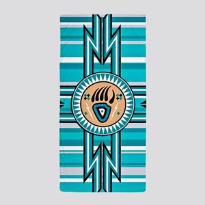 Turquoise Bear Paw - Native American Beach Towel