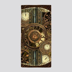 Steampunk, awessome clocks with gears Beach Towel