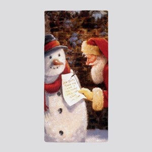 Santa Reading Note Beach Towel