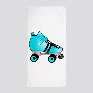 Zebra Pink and Black Ice Skate Beach Towel