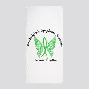 NH Lymphoma Butterfly 6.1 Beach Towel