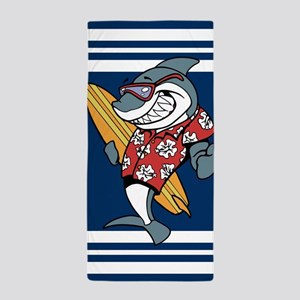 Surfing Shark Beach Towel