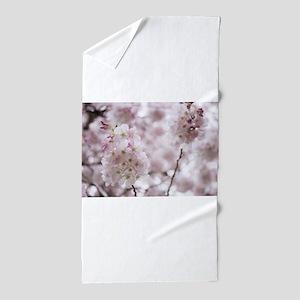 db3b3b5b0 Cherry blossoms in spring time Beach Towel. $39.99. Soft Puffs Beach Towel