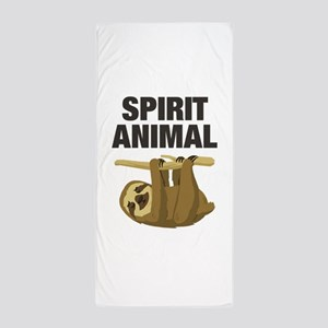 Sloth is my Spirit Animal Beach Towel