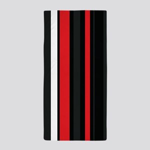 Red white and black. Beach Towel