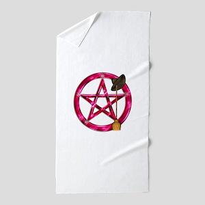 Pink Pentacle Broom - Hat Beach Towel