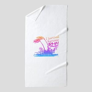 I Survived Hurricane Irma Beach Towel