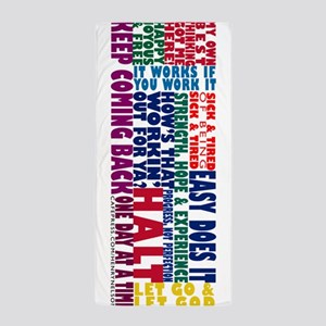 AA Recovery Slogans Beach Towel