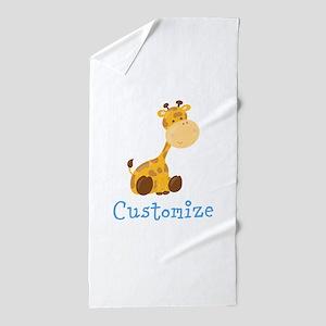 Custom Baby Giraffe Beach Towel