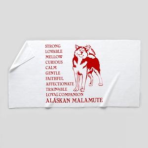 LOYAL MALAMUTE Beach Towel