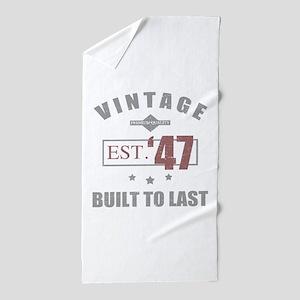Vintage 1947 Birth Year Beach Towel