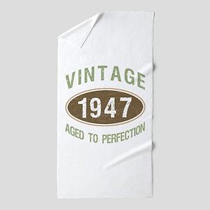 Vintage 1947 Birthday Beach Towel