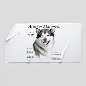 Alaskan Malamute Beach Towel