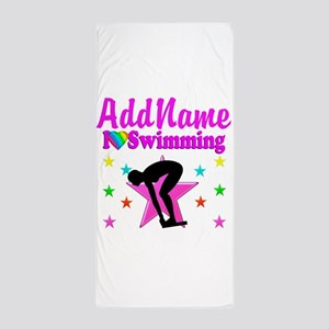 LOVE SWIMMING Beach Towel
