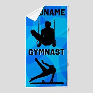 Strong Gymnast Beach Towel