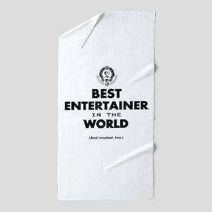 Best Entertainer in the World Beach Towel