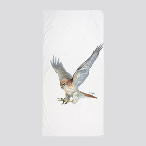Striking Red-Tail Hawk Beach Towel