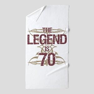 Men's Funny 70th Birthday Beach Towel